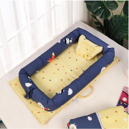 Baby Travel Bed Nest Bed Babynest Newborn Portable Crib Tissu Coton Baby Nestje Baby Lounge Bassinet 5