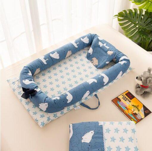 Baby Travel Bed Nest Bed Babynest Newborn Portable Crib Tissu Coton Baby Nestje Baby Lounge Bassinet