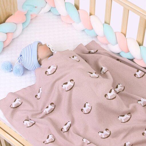 Baby Trojan Blankets Girls Boys Stroller Monthly Blanket Newborn Knitted Cotton Kids Spring Swaddle Cobertor Infantil 1