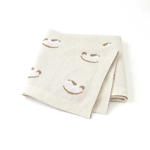 Baby Trojan Blankets Girls Boys Stroller Monthly Blanket Newborn Knitted Cotton Kids Spring Swaddle Cobertor Infantil 2