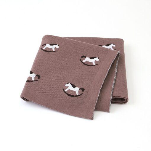 Baby Trojan Blankets Girls Boys Stroller Monthly Blanket Newborn Knitted Cotton Kids Spring Swaddle Cobertor Infantil 3