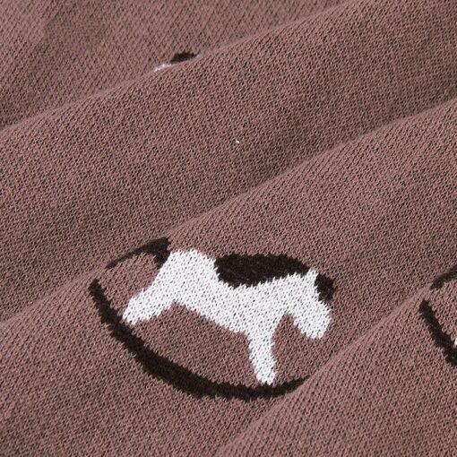Baby Trojan Blankets Girls Boys Stroller Monthly Blanket Newborn Knitted Cotton Kids Spring Swaddle Cobertor Infantil 5
