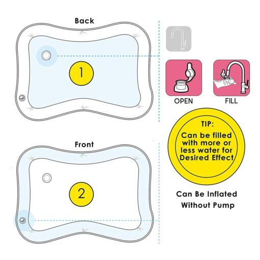 Baby Water Play Mat Summer Water Toys For Newborns Playmat Toddler Fun Activity Inflatbale Mat Summer 2