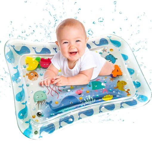 Baby Water Play Mat Summer Water Toys For Newborns Playmat Toddler Fun Activity Inflatbale Mat Summer 4