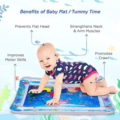Baby Water Play Mat Tummy Time Toys For Newborns Playmat PVC Toddler Fun Activity Inflatbale Mat 1