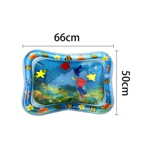 Baby Water Play Mat Tummy Time Toys For Newborns Playmat PVC Toddler Fun Activity Inflatbale Mat 10