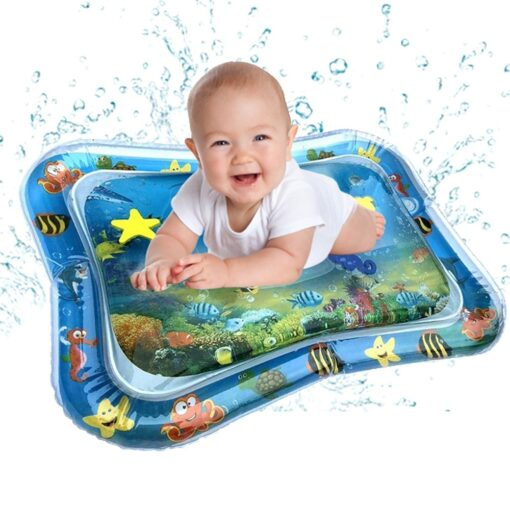 Baby Water Play Mat Tummy Time Toys For Newborns Playmat PVC Toddler Fun Activity Inflatbale Mat 11
