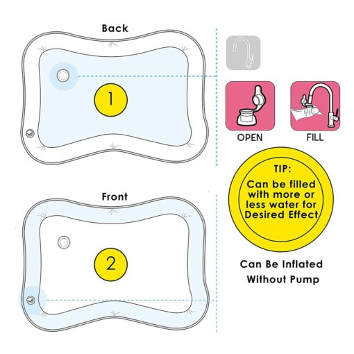 Baby Water Play Mat Tummy Time Toys For Newborns Playmat PVC Toddler Fun Activity Inflatbale Mat 2