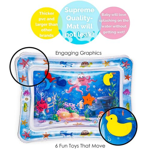 Baby Water Play Mat Tummy Time Toys For Newborns Playmat PVC Toddler Fun Activity Inflatbale Mat 3