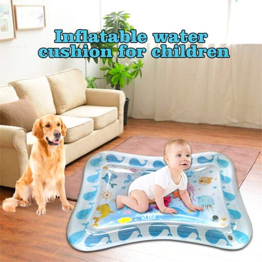 Baby Water Play Mat Tummy Time Toys For Newborns Playmat PVC Toddler Fun Activity Inflatbale Mat 4