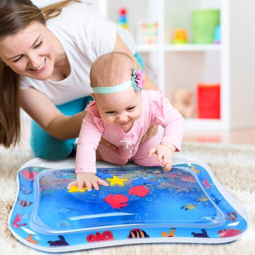 Baby Water Play Mat Tummy Time Toys For Newborns Playmat PVC Toddler Fun Activity Inflatbale Mat 5