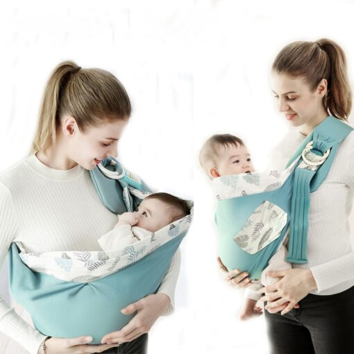 Baby Wrap Newborn Sling Dual Use Infant Nursing Cover Carrier Mesh Fabric Breastfeeding Carriers Up To 6