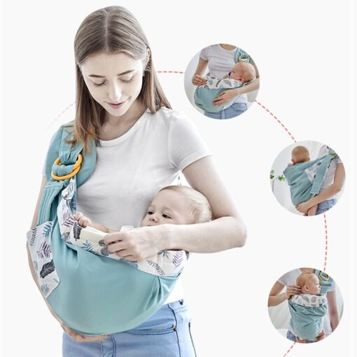 Baby Wrap Newborn Sling Dual Use Infant Nursing Cover Carrier Mesh Fabric Breastfeeding Carriers Up To 8