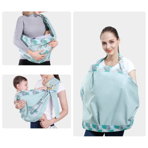 Baby Wrap Newborn Sling Dual Use Infant Nursing Cover Carrier Mesh Fabric Breastfeeding Carriers Up To 9