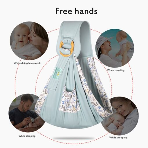 Baby Wrapped Carrier Newborn Carrier Dual purpose Baby Care Cover Mesh Fabric Breastfeeding Baby Carrier 3