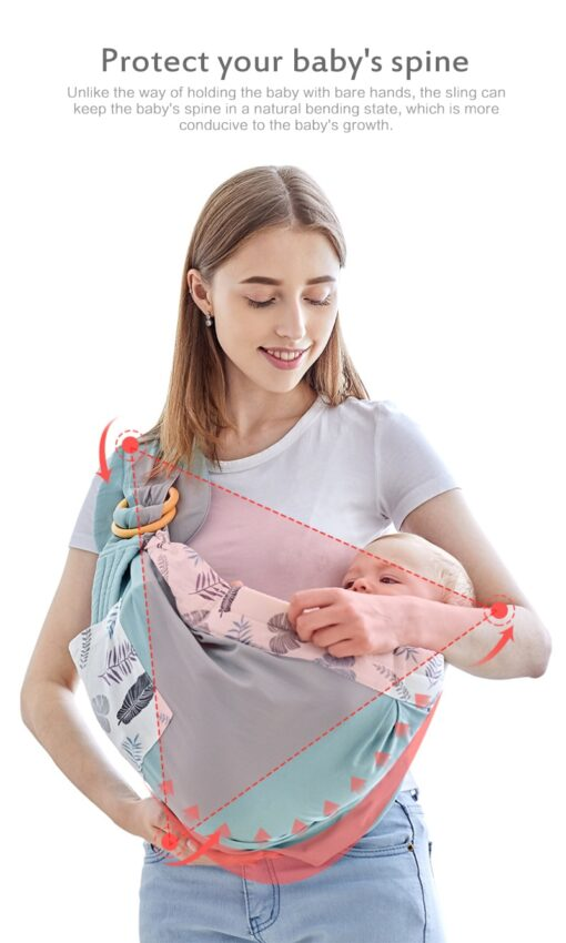 Baby Wrapped Carrier Newborn Carrier Dual purpose Baby Care Cover Mesh Fabric Breastfeeding Baby Carrier 4