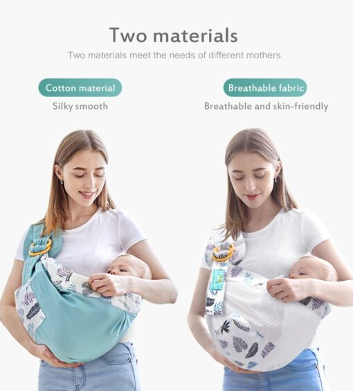 Baby Wrapped Carrier Newborn Carrier Dual purpose Baby Care Cover Mesh Fabric Breastfeeding Baby Carrier 5