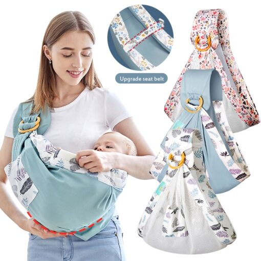 Baby Wrapped Carrier Newborn Carrier Dual purpose Baby Care Cover Mesh Fabric Breastfeeding Baby Carrier