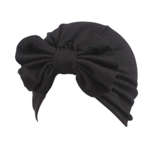 Baby hat Girls Boho Bow tie Beanie Scarf Turban Head Wrap Cap winter hats for kids 1