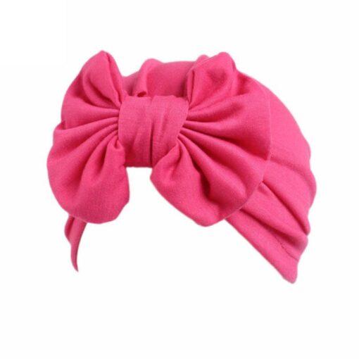 Baby hat Girls Boho Bow tie Beanie Scarf Turban Head Wrap Cap winter hats for kids 4