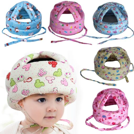Baby s Hat Head Protector Crash Proof Fall Proof All Cotton Breathable Adjustable Infant Walking Helmet 1