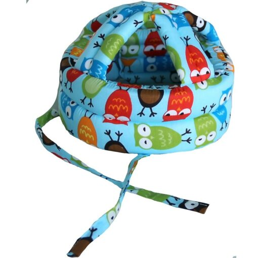 Baby s Hat Head Protector Crash Proof Fall Proof All Cotton Breathable Adjustable Infant Walking Helmet 3