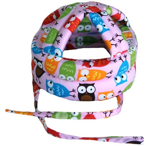 Baby s Hat Head Protector Crash Proof Fall Proof All Cotton Breathable Adjustable Infant Walking Helmet 5