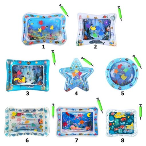 Baby water play mat Inflatable thicken PVC infant Tummy Time Playmat Toddler for Baby Fun Activity 1