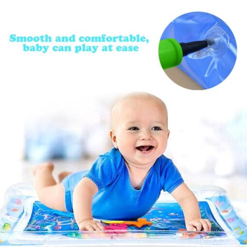Baby water play mat Inflatable thicken PVC infant Tummy Time Playmat Toddler for Baby Fun Activity 2
