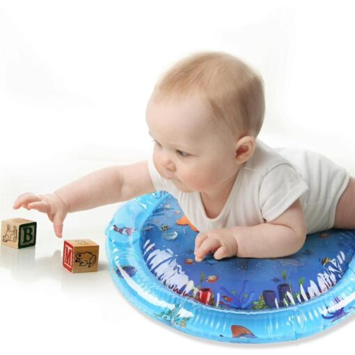 Baby water play mat Inflatable thicken PVC infant Tummy Time Playmat Toddler for Baby Fun Activity 5