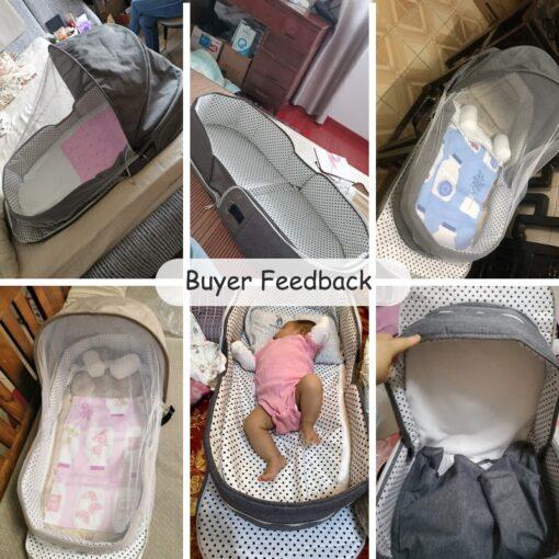 Babyinner Portable Baby Crib Mummy Bag Infant Nest Cradle Folding Newborn Travel Bed In Bed Cot 5