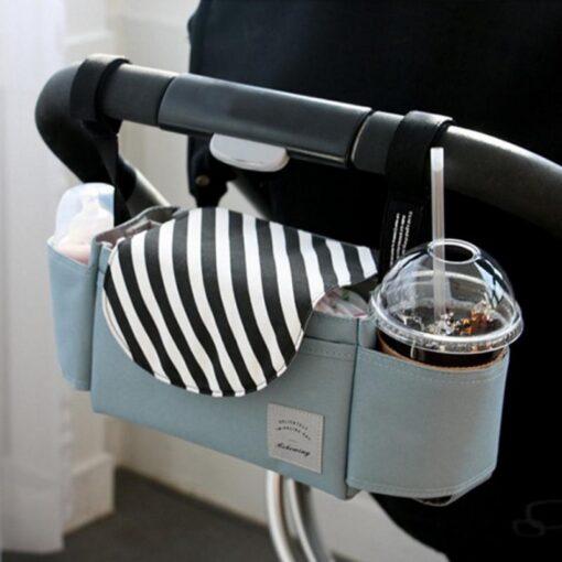 Bag Mummy Stroller Bag Hanging Bag Baby Storage Bottle Holder Buggy Pram Pushchair Organiser Stroller Outdoor
