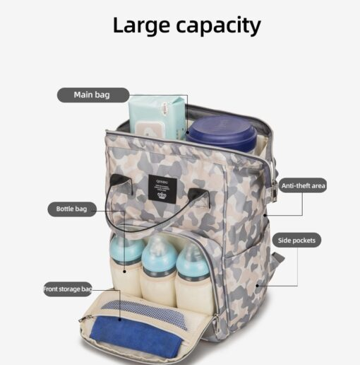 Bag in the maternity diaper Bags Backpack Large Capacity back pack Multi function Outdoor Nappy packet 2