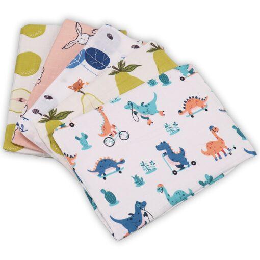 Bamboo Cotton Baby Blankets Newborn Soft Baby Blanket Muslin Swaddle Wrap Feeding Burp Cloth Towel Scarf 2