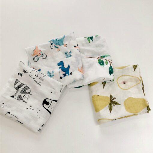 Bamboo Cotton Baby Blankets Newborn Soft Baby Blanket Muslin Swaddle Wrap Feeding Burp Cloth Towel Scarf 3