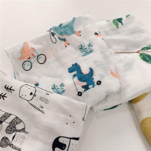 Bamboo Cotton Baby Blankets Newborn Soft Baby Blanket Muslin Swaddle Wrap Feeding Burp Cloth Towel Scarf
