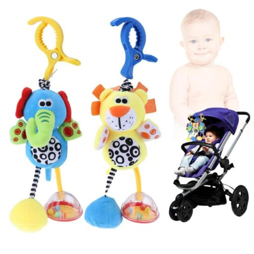 Bbay Toys Hanging Plush Baby Toy Rattle Lovely Cartoon Animal Bell Newborn Stroller Accessories Baby Toys 1