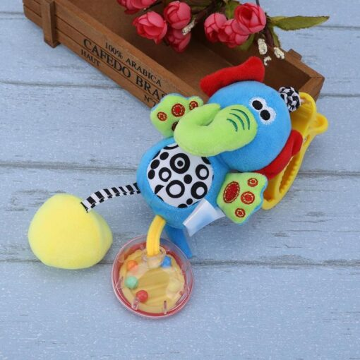 Bbay Toys Hanging Plush Baby Toy Rattle Lovely Cartoon Animal Bell Newborn Stroller Accessories Baby Toys 2