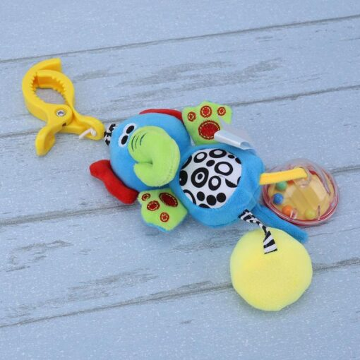 Bbay Toys Hanging Plush Baby Toy Rattle Lovely Cartoon Animal Bell Newborn Stroller Accessories Baby Toys 3