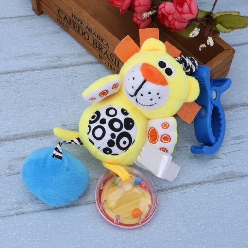 Bbay Toys Hanging Plush Baby Toy Rattle Lovely Cartoon Animal Bell Newborn Stroller Accessories Baby Toys 4