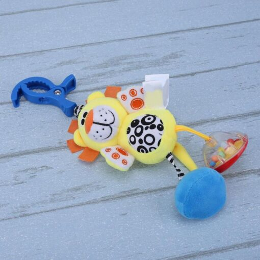Bbay Toys Hanging Plush Baby Toy Rattle Lovely Cartoon Animal Bell Newborn Stroller Accessories Baby Toys 5