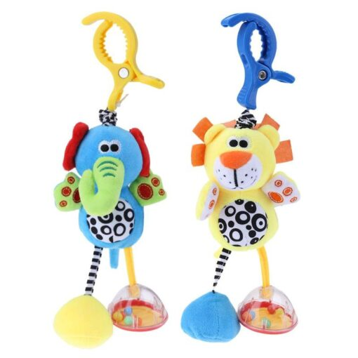 Bbay Toys Hanging Plush Baby Toy Rattle Lovely Cartoon Animal Bell Newborn Stroller Accessories Baby Toys