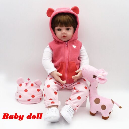 Bebes Toys Reborn Doll 48cm Soft Silicone Reborn Baby Dolls Com Corpo De Silicone Menina Baby 1