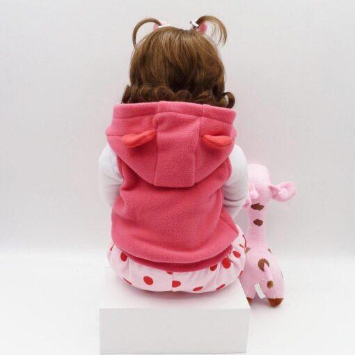Bebes Toys Reborn Doll 48cm Soft Silicone Reborn Baby Dolls Com Corpo De Silicone Menina Baby 2