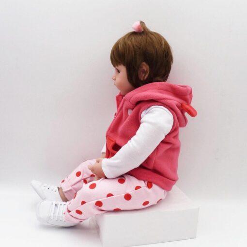 Bebes Toys Reborn Doll 48cm Soft Silicone Reborn Baby Dolls Com Corpo De Silicone Menina Baby 3