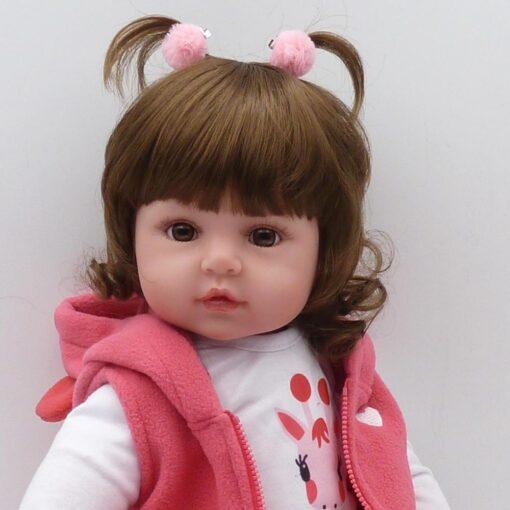Bebes Toys Reborn Doll 48cm Soft Silicone Reborn Baby Dolls Com Corpo De Silicone Menina Baby 4