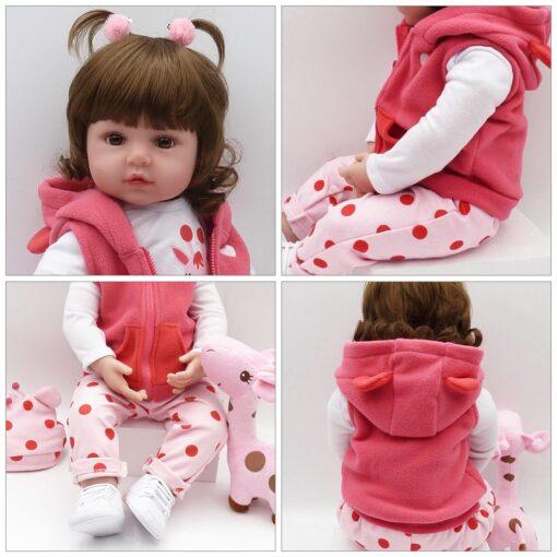 Bebes Toys Reborn Doll 48cm Soft Silicone Reborn Baby Dolls Com Corpo De Silicone Menina Baby 5