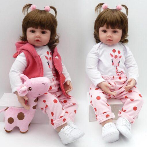 Bebes Toys Reborn Doll 48cm Soft Silicone Reborn Baby Dolls Com Corpo De Silicone Menina Baby