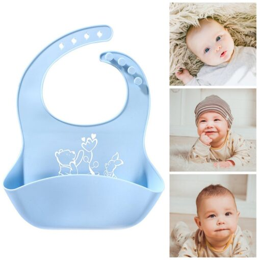 Best Gifts For Newborns Solid Silicone Baby Feeding Bibs Burp Cloths Bandana Fashionable Aprons Babador Breastplate 10