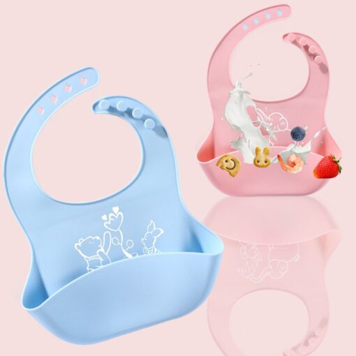 Best Gifts For Newborns Solid Silicone Baby Feeding Bibs Burp Cloths Bandana Fashionable Aprons Babador Breastplate 9